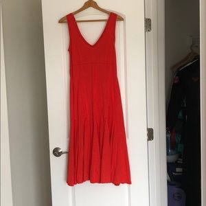 Orange Maeve midi dress from Anthropologie